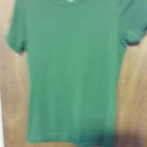 Short sleeve  top dark green